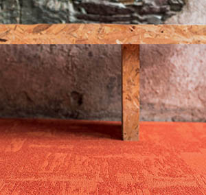 Kollektion Infini Colors Teppichboden Teppichfliese Rock orange