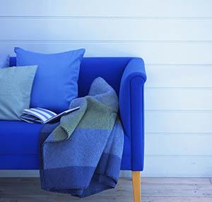 Inspiration Farben Dekoration Sofas blau