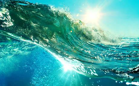 Inspiration Dekoration Ozean Welle unter Wasser