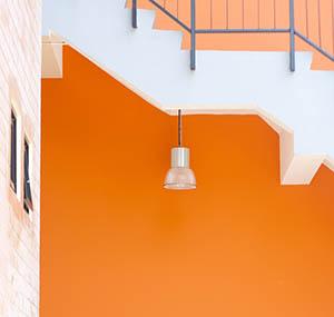 Inspiration Farben Dekoration orange